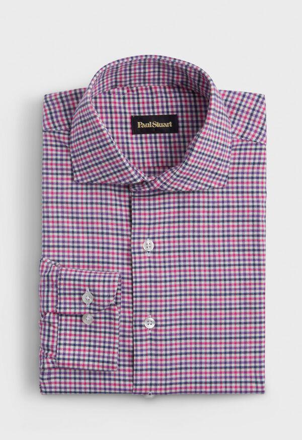 Mini Check Flannel Sport Shirt