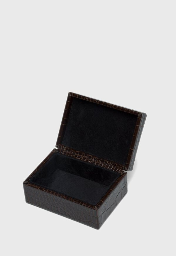 Embossed Leather Small Jewelry Box, image 2