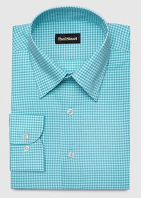 Cotton Gingham Sport Shirt, thumbnail 1