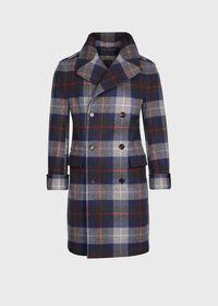 Tartan Plaid Wool Overcoat, thumbnail 1