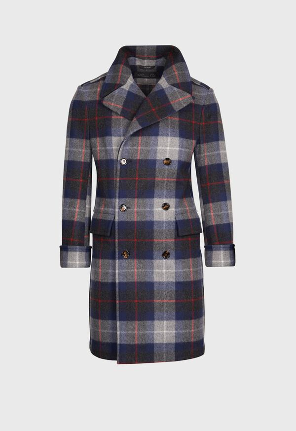 Tartan Plaid Wool Overcoat, image 1