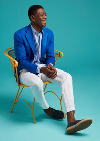 Royal Blue Cashmere Soft Jacket, thumbnail 2
