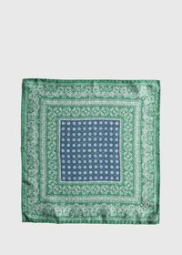 Silk Paisley Medallion Pocket Square, thumbnail 2