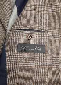 Plaid Print Wool Blazer, thumbnail 3