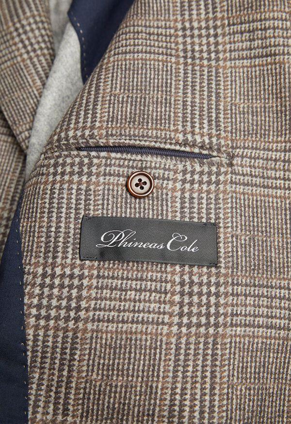 Plaid Print Wool Blazer, image 3