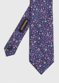 Silk Summer Floral Tie, thumbnail 1