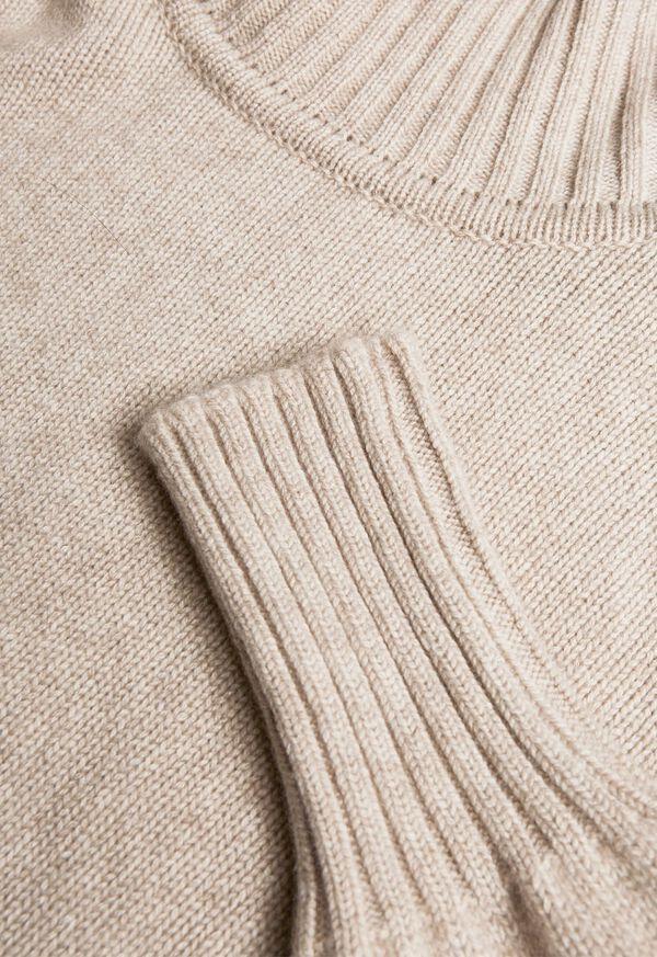 Cashmere Cropped Turtleneck Sweater, image 6