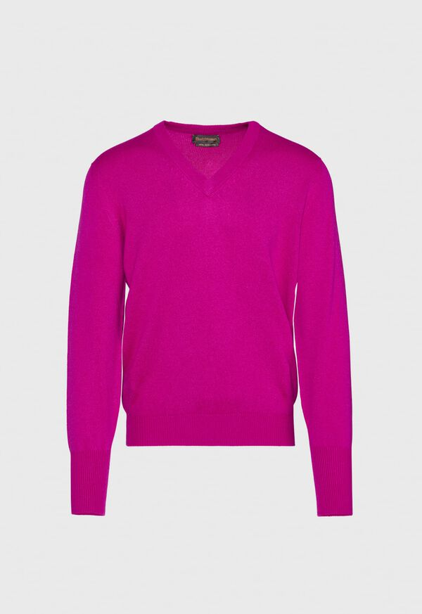 Scottish Cashmere V-Neck Sweater, image 20