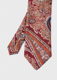 Silk Floral Paisley Tie, thumbnail 1