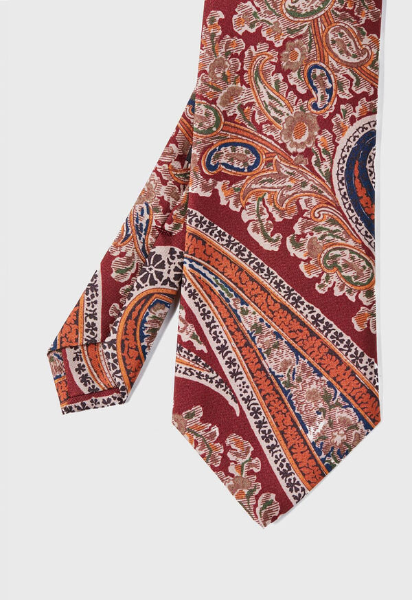 Silk Floral Paisley Tie, image 1