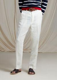 White Linen Blend Trouser, thumbnail 2