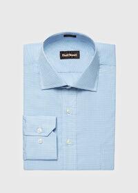Cotton Graph Check Dress Shirt, thumbnail 1