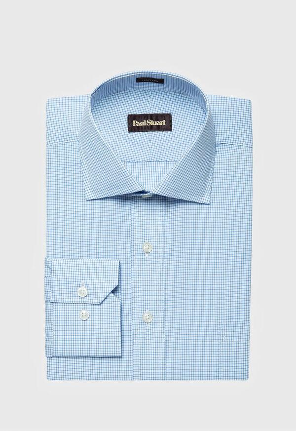 Cotton Graph Check Dress Shirt, image 1
