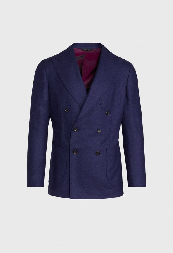 Solid Double Breasted Blazer, image 1