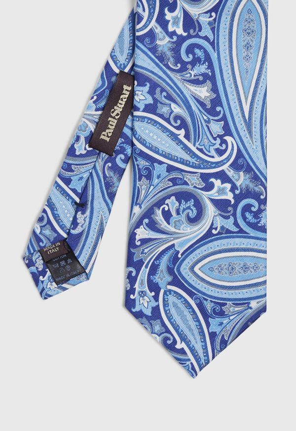 Paisley Silk and Linen Tie, image 1