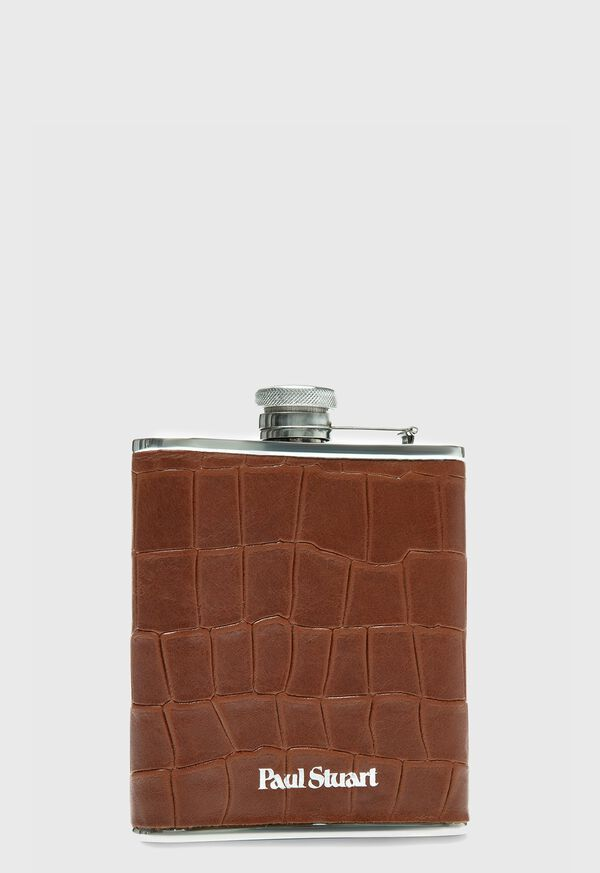 Embossed Leather Flask, image 1