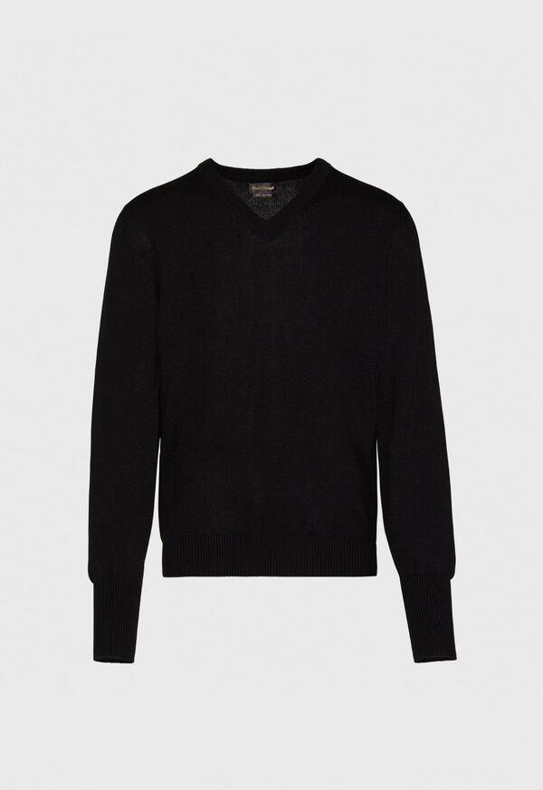 Scottish Cashmere V-Neck Sweater, image 11