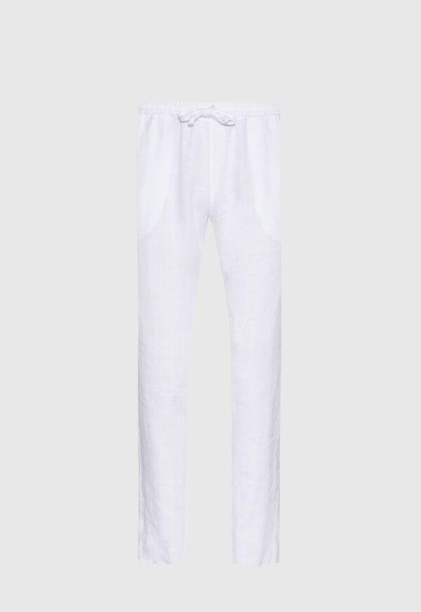 Drawstring Washed Linen Pant, image 1