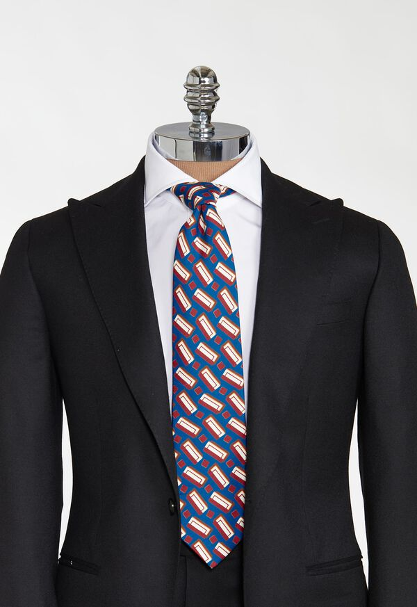Printed Deco Rectangles Tie, image 2