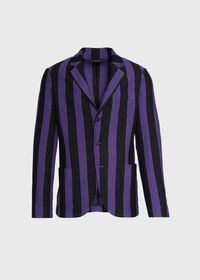 Rice Stitch Merino Wool Stripe Blazer, thumbnail 1