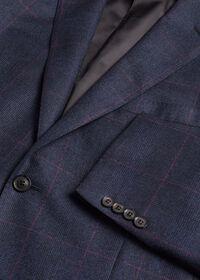 Navy Plaid Soft Shoulder Suit, thumbnail 5