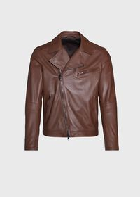 Leather Embroidered Motorcycle Jacket, thumbnail 1