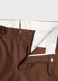 Solid Brown Flannel Pant, thumbnail 2