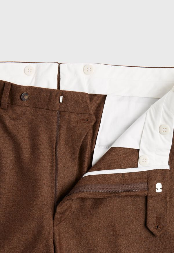 Solid Brown Flannel Pant, image 2