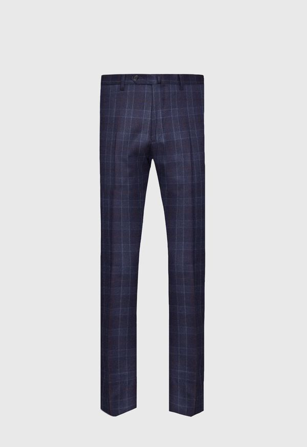 Navy Plaid Wool Suit, image 5
