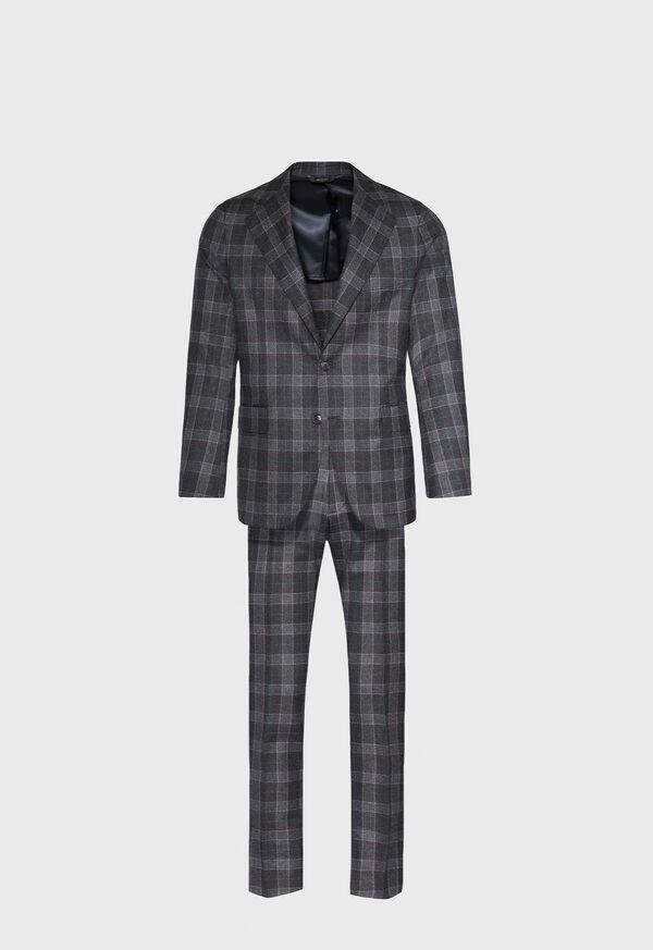 Grey Plaid Wool Suit, image 1