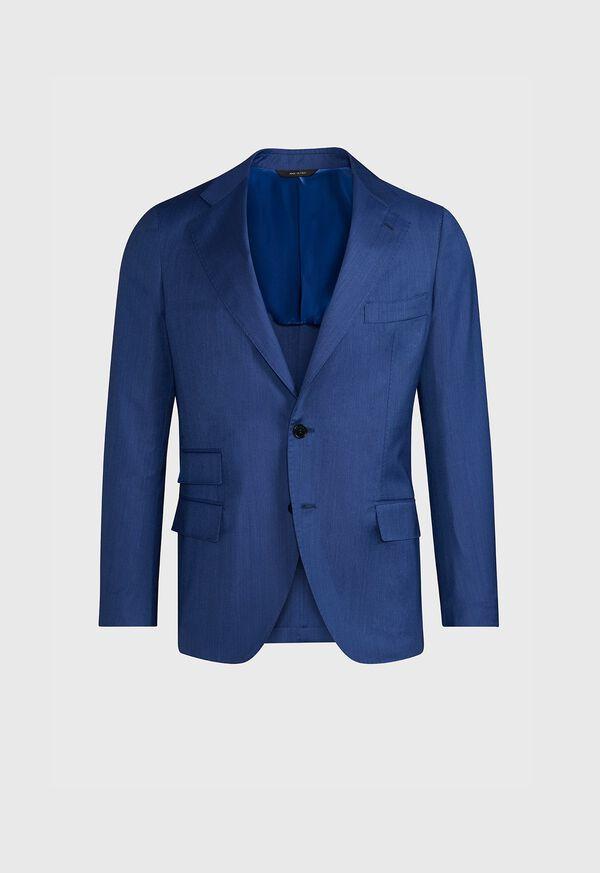 Blue Solid Suit, image 3