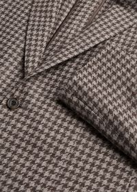 Taupe Houndstooth Sport Jacket, thumbnail 2