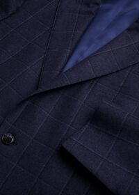 Windowpane Wool and Cashmere Blend Jacket, thumbnail 2