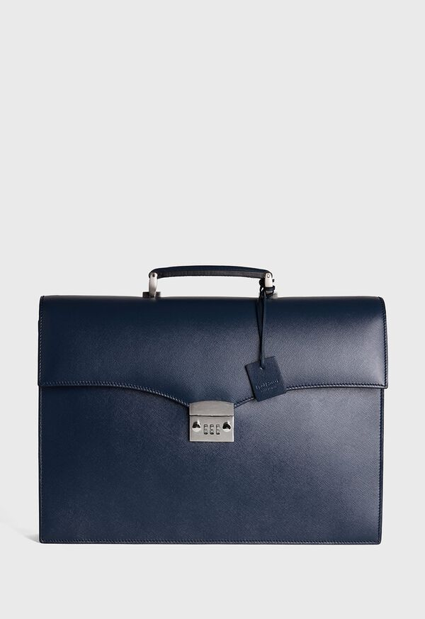 Single Gusset Briefcase With Curved Front Pocket, image 1