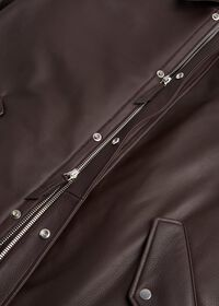 Leather Zip Up Coat, thumbnail 3