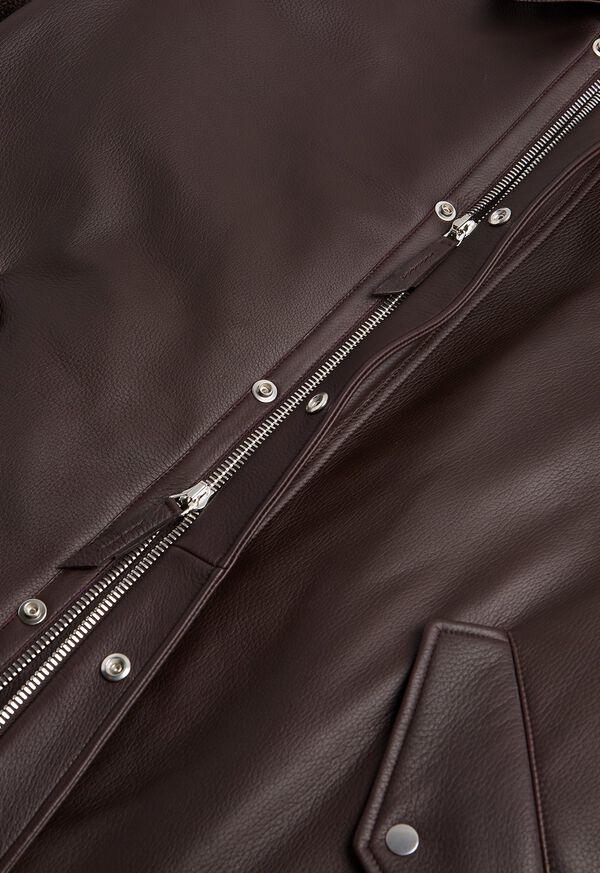 Leather Zip Up Coat, image 3