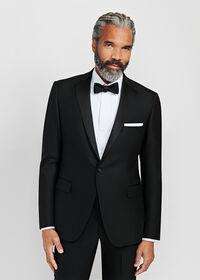 Black Italian Wool Tuxedo, thumbnail 2