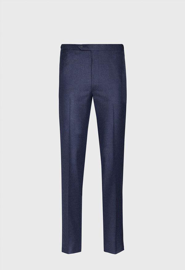Mid Blue Solid Flannel Paul Fit Suit, image 4