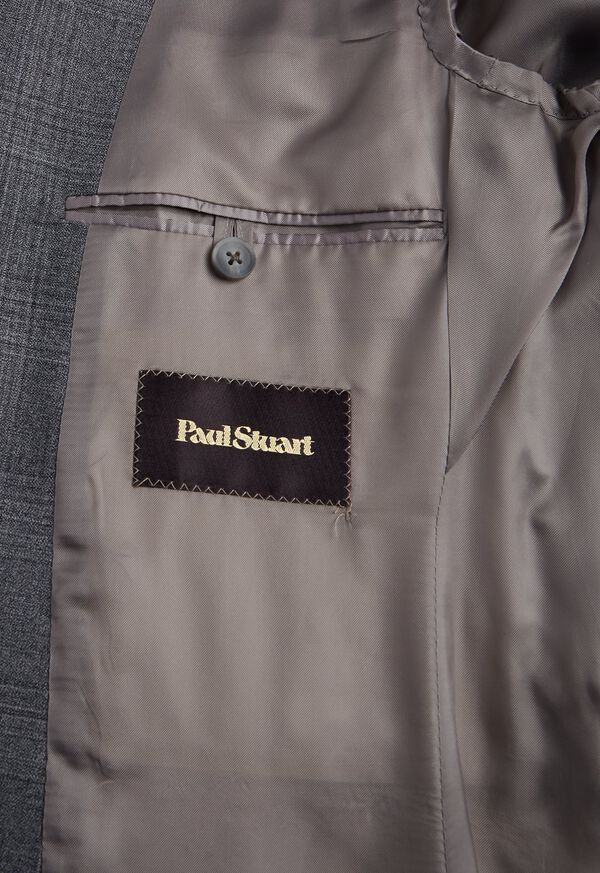 Grey Plaid Wool Suit, image 4