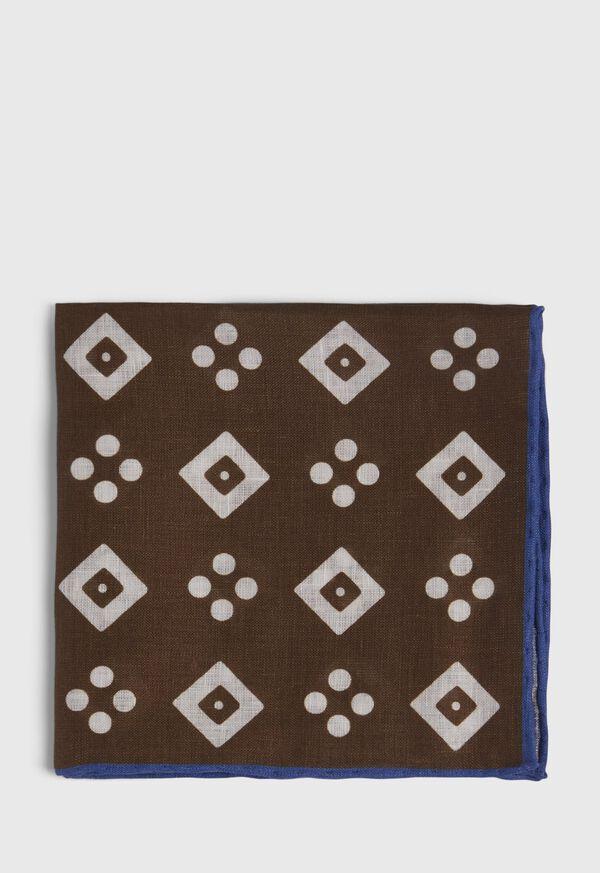 Linen Medallion Pocket Square, image 2