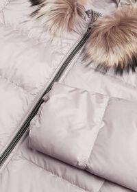 Puffer Coat with Fur Trim, thumbnail 4