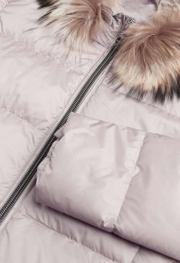 Puffer Coat with Fur Trim, image 4