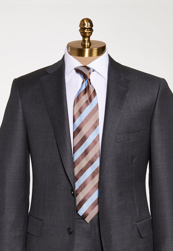 Oxford and Satin Stripe Tie, image 2