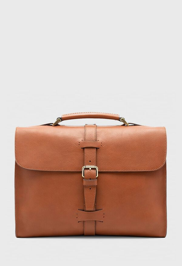 Bridle Leather Briefcase with Shoulder Strap, image 1