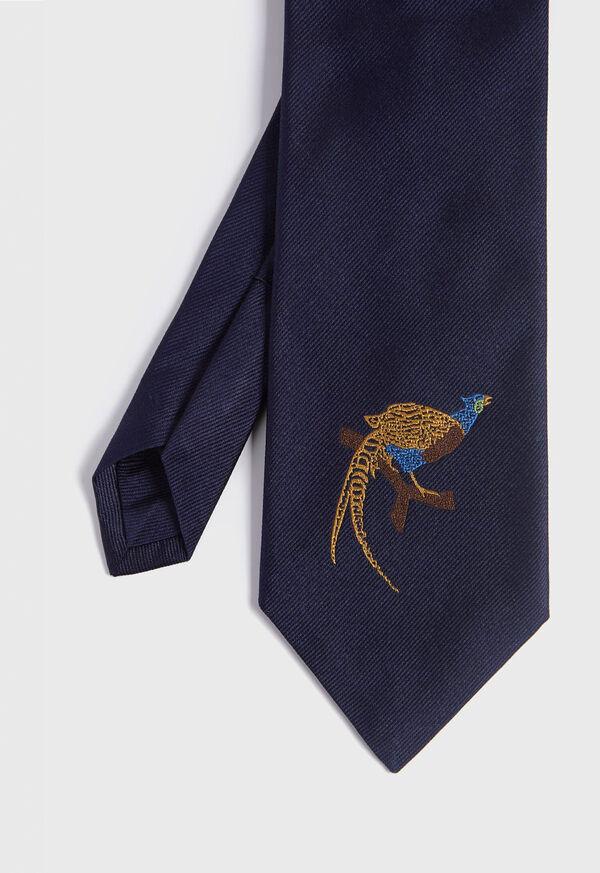 Pheasant Silk Tie, image 1