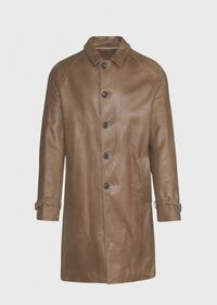 Distressed Leather Coat, thumbnail 1