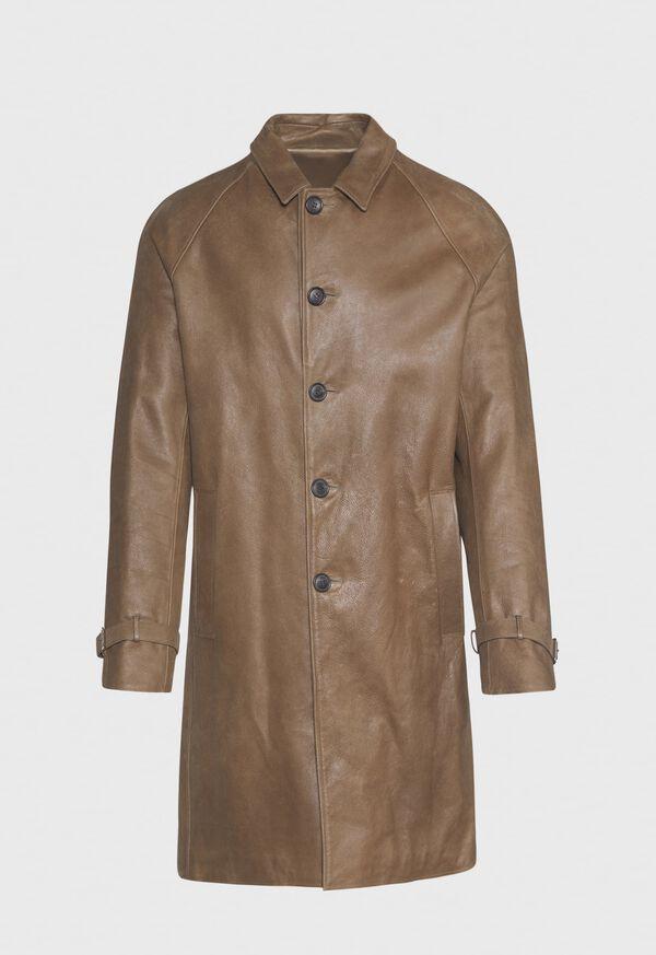 Distressed Leather Coat, image 1