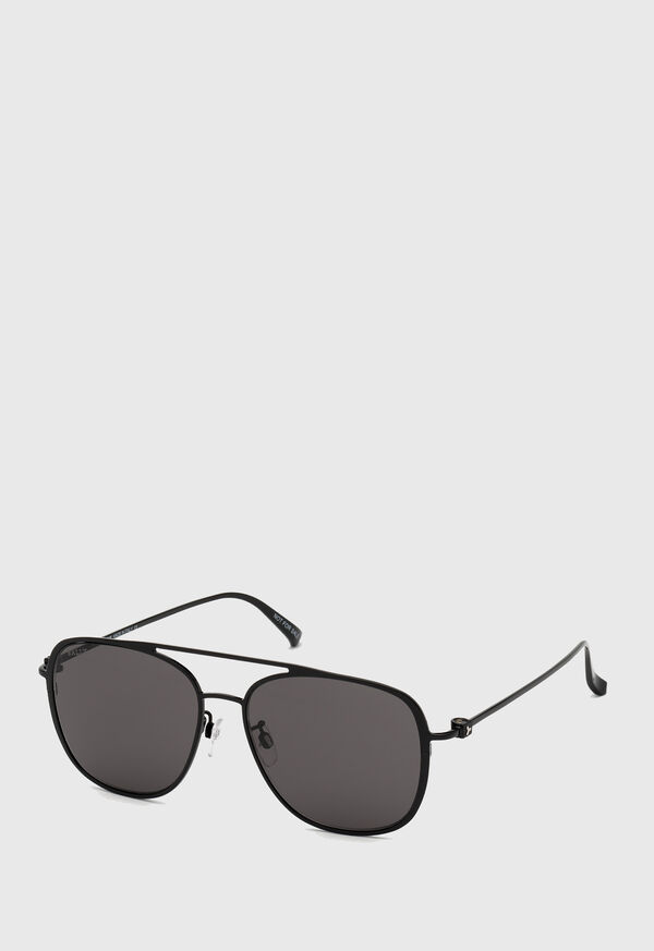 Bally's Shiny Black Metal Sunglasses