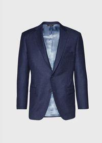 Mid Blue Solid Flannel Paul Fit Suit, thumbnail 3