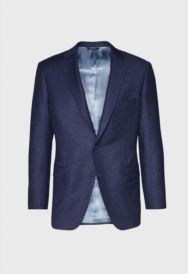 Mid Blue Solid Flannel Paul Fit Suit, image 3